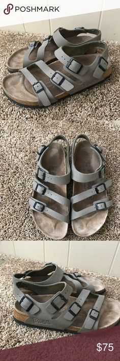Birkies by Birkenstock In very good used shape soles look more wore in pictures, fits closer to a 7-7.5 Birkenstock Shoes