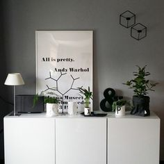 """""""Changes: grey wall & no shelves = happy me!"""""""