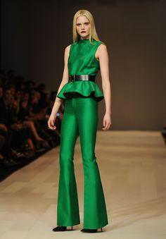 The luck of the Irish? No: this emerald green peplum leprechaun is from Pink Tartan Fall 2012. #fashion #stpattysday