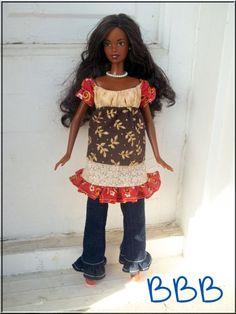Barbie Clothes Boutique Outfit Peasant by BarbieBoutiqueBasics