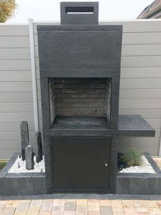 My Barbecue-Barbecue contemporain Impexfire pierre Patio Diy, Outdoor Kitchen Design, Backyard Patio, Patio Ideas, Barbecue Garden, Outdoor Barbeque, Grill Diy, Bbq Diy, Design Barbecue