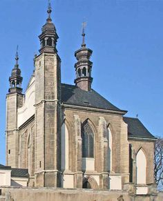 The Chapel of All Saints with the ossuary in Sedlec (Central Bohemia) in Czechia. It is listed in the UNESCO World Heritage