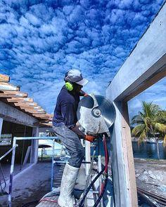 Beautiful day for concrete cutting  #gables #arvida #concretecutting #concreteconnection #construction #miamibeach #miami #generalcontractor #demolition #florida #speedy #constructionsite #concrete #concretecuttingmiami