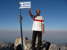 On top of Mount Olympus, Greece, 2917 m. #greatwalker