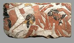 Block from a relief depicting a battle. New Kingdom, 18th Dynasty, possibly reign of Amenhotep II, ca. 1427-1400 B.C.