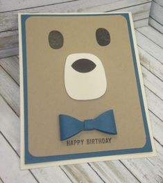 Stampin' Up!, Playful Pals, Bow Builder Punch, DIY Crafts, handmade birthday cards, kids cards, #imbringingbirthdaysback, #carolpaynestamps