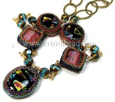Beaded Bezels by Lindsay Wisecup #jewelry jewelry-making-classes