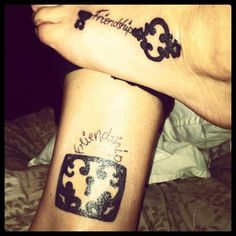 Friendship tattoo Or just do the key with friendship is the key saying.