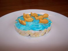 Not sure about icing on a rice cake, but the kids would probably like it!  Very cute either way :-)