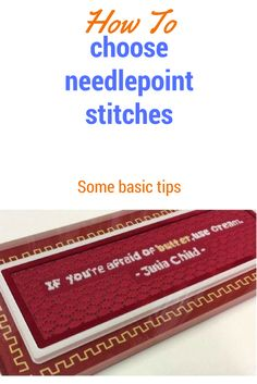 How to Choose Needlepoint Stitches and Plan Your Canvas Needlepoint Designs, Needlepoint Stitches, Needlepoint Kits, Needlepoint Canvases, Needlework, Crewel Embroidery Kits, Machine Embroidery Projects, Embroidery Scissors, Embroidery Designs