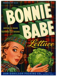 #vintage #crate #label #Scottish #food #tartan #lettuce (#hashtagheadache)