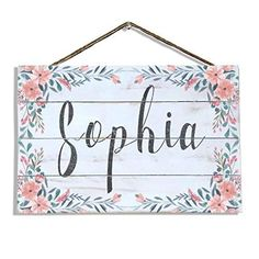 Personalized sign for baby's nursery