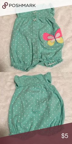 ✨NB girls Carter's Set✨ Like new. Pretty newborn girls romper and pajama. Excellent condition  Carter's One Pieces