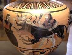 Herakles Kerberos Eurystheus Louvre