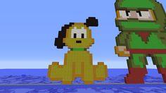 Nouveau Pixel art Minecraft, Construction, Luigi, Pixel Art, Mario, Fictional Characters, Building, Fantasy Characters
