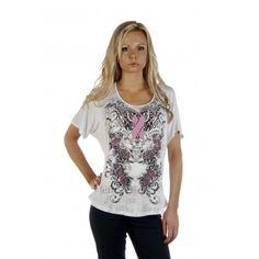 "Liberty Wear Women's ""Faith and Hope"" Spandex T-Shirt - 7839 Profile"