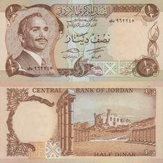 1/2 Dinar Jordan's Banknote