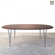 Super Elliptical dining table by Piet Hein & Arne Jacobsen for Fritz Hansen, 1960s