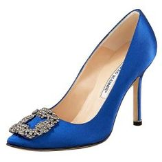 Manolo Blahnik Something Blue Satin Pump. The shoes Big proposed to Carrie with!!!!  Love!!!!