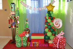 Partylicious E's Christmas/Holiday / Christmas Party - Photo Gallery at Catch My Party Ward Christmas Party, Christmas Birthday Party, Grinch Christmas, Christmas Party Decorations, Christmas Photos, Christmas Holidays, Elegant Christmas, Xmas Party Ideas, Company Christmas Party Ideas
