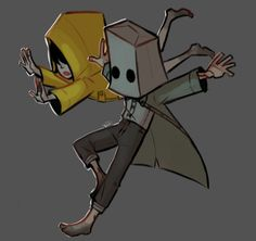 "Suwatjanee on Instagram: ""Why do I keep getting attached to video game characters?? #littlenightmares2 #littlenightmaressix #littlenightmaresmono #doodle #digitalart"""