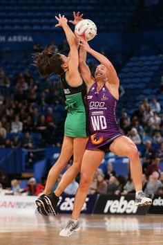 Verity Charles of the Fever and Gabi Simpson of the Firebirds contest for the ball during the round 12 Super Netball match between the Fever and the Firebirds at Perth Arena on July 2018 in Perth, Australia. Celebrity Photos, Celebrity News, Running, Music, Sports, Movies, Musica, Hs Sports, Musik