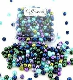Amazon.com: Beads Direct USA's Glass Pearls Mix 200pcs Round 4mm - Ocean Mix: Arts, Crafts & Sewing $1.95
