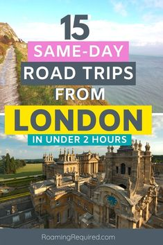 Embrace the staycation by exploring more of the UK with one of these great same-day road trips from London by car. All of them can be reached in less than 2 hours from London.   Discover the English countryside; with quaint villages and dramatic coastlines that are within easy reach on a day trip from London.   #London #DayTrip #Roadtrip #Driving #Vacation #Holiday #UK #UKRoadtrip European Travel Tips, Europe Travel Guide, Travel Guides, Edinburgh Travel, London Travel, London What To See, Road Trip Uk, Day Trips From London, Short Break