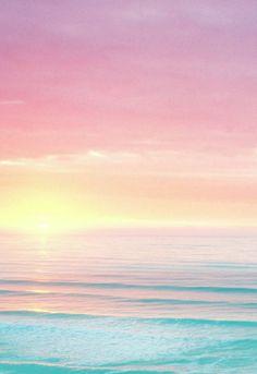 Summer pastels. Sky, sun and sea...