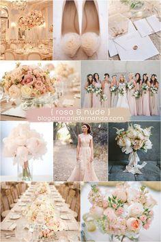 Decoração de Casamento : Paleta de Cores Rosa e Nude | http://blogdamariafernanda.com/decoracao-de-casamento-rosa-e-nude