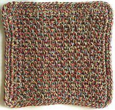 Quick Beginner Dishcloth- Easy- Crochet