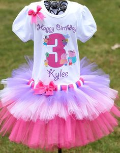 Peppa-Pig-tutu for girls -Etsy The birthday girl should always be the showstopper. Peppa Pig Birthday Outfit Peppa Pig by TwistinTwirlinTutus on Etsy, $59.99