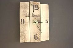 Horloge Nature et bois U Tempu, latitude 42.02 Made in Corsica Création bijoux et bois flotté
