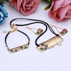 2016 Hot Gold & Silver Plated  Fashion  jewelry Set Wholesale Dandelion Cave Women Fashion Wedding Bridal Jewelry Sets Party Gif