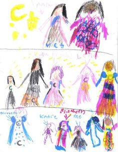 Cordelia's drawing of New Moon Girls and the people who work on it.  Love this!