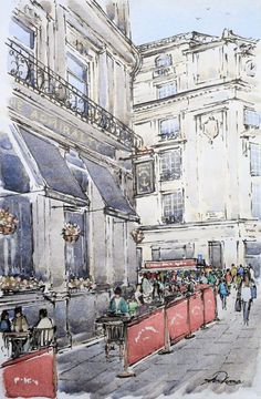 Love Painting, Painting & Drawing, Watercolor Paintings, Art Watch, Trafalgar Square, London Travel, Countryside, Medieval, Art Photography