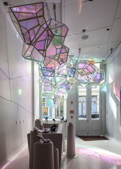 SOFTlab crystallized installation melissa shoes NYC designboom