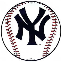 New York Yankees Baseball Logo Metal Sign | Sports Team Decor ...