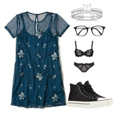 """""""Untitled #820"""" by amandafras2008 on Polyvore featuring Hollister Co., Converse and BillyTheTree"""