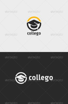 College Education Logo  #education #graduate #graduation • Available here → http://graphicriver.net/item/college-education-logo/6795010?s_rank=1170&ref=pxcr