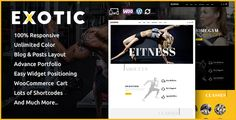 Compatibility  WordPress 4.5.x, 4.6.x, 4.7.x, 4.8.x  WooCommerce 2.4.x, 2.5.x, 2.6.x, 3.x.x       Exotic is wordpress ecommerce theme based on WooCommerce plugin. It is suitable for fitness ...