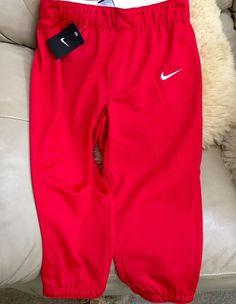 NEW Nike Women's Scarlet Red Short Capri Pant Fitness Running Drawstring NWT S #Nike #PantsTightsLeggings