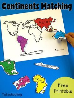 Ks1 geography locational knowledge the seven continents and five free geography matching activity with the 7 continents of the world perfect for toddlers preschoolers and kindergarten to introduce the continents gumiabroncs Choice Image