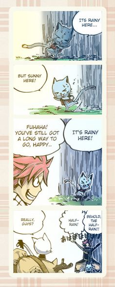 Natsu & Happy - I laughed really hard at this when I read the chapter!  They're so cute!