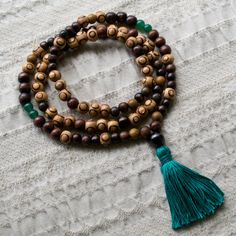 Mixed Wood Mala Beads