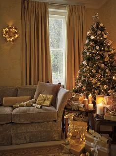 Laura Ashley Christmas: Create a warm golden glow...