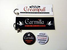 Carmilla Set bookmarks and badges