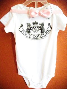Items similar to Juicy Couture Tee on Etsy Baby Couture, Juicy Couture, My Baby Girl, Baby Love, Baby Girl Fashion, Kids Fashion, Baby Swag, Little Fashionista, Everything Baby