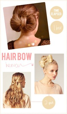 Clip in hair bow