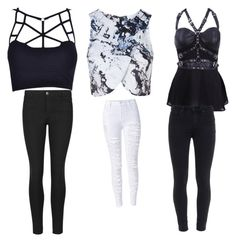 """Untitled #49"" by brooklyen on Polyvore featuring Topshop, Indigo Collection and Paige Denim"